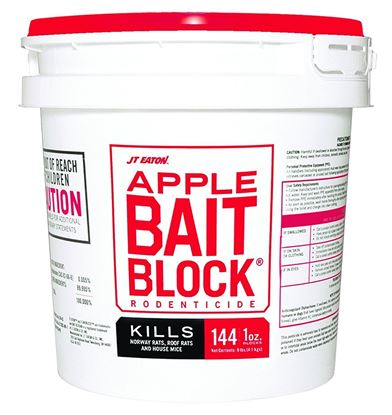 Bait Block Apple Flavor Rodenticide (144 x 1-oz. pail)