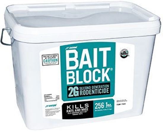 Bait Block 2G Second Generation Rodenticide (256 x 1-oz. blocks/pail)