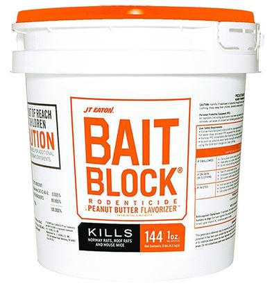 Bait Block Rodenticide with Peanut Butter Flavorizer (144 x 1-oz. blocks/pail)