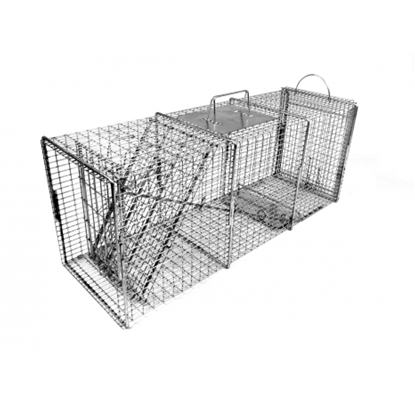 Picture of Tomahawk Pro Raccoon Trap with One Trap Door and Rear Access Door (32-in. x 10-in. x 12-in.)