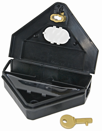 Picture of Gold Key Mouse Depot Plastic Tamper-Resistant Mini Bait Station w/Clear Window
