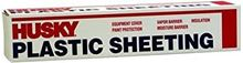 Picture of Husky Plastic Sheeting - 4 Mil - Black (12 ft. x 100 ft.)
