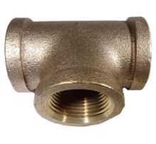 Picture of Couplings Company 101J Female Pipe Tee - Brass - 3/4 in.
