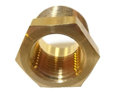 Picture of Couplings Company 110EE Pipe Hex Bushing - 3/8 MPT x 1/4 FPT