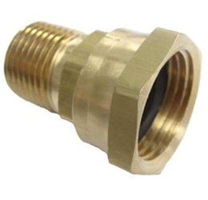 Picture of Couplings Company 712EJR Male Pipe x Female Garden Hose - 3/8 in. x 3/4 in.