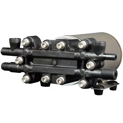 Picture of Pump Motor Set, 114T-075/M15-8, 12V, Viton, U-Valve, 6 Ports, Black