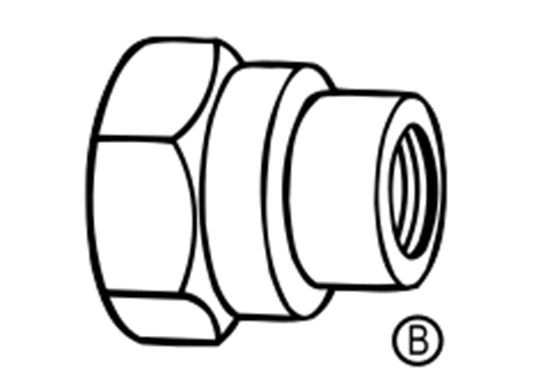 Picture of B&G 4676-NYB-1/4 1/4 in. TeeJet Adapter - Nylon