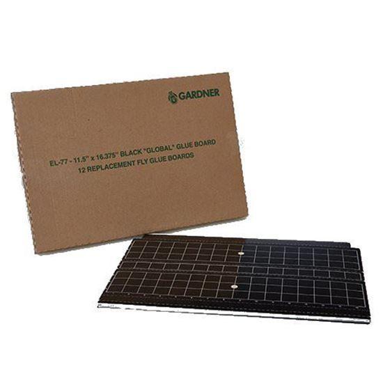 Picture of Gardner EL-77 Glueboard - 17 in x 11.5 in. - Black (12 count)