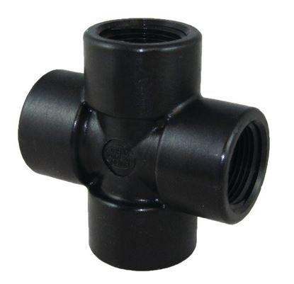 Picture of A&M Industries CR8PP Polypropylene Pipe Cross (NPT) - 1/2 in.