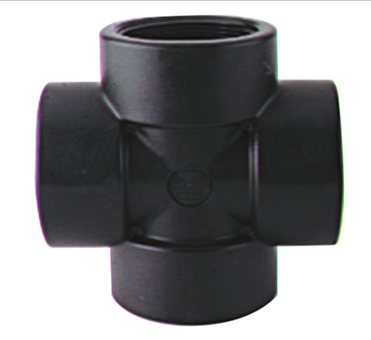 Picture of A&M Industries CR6PP Polypropylene Pipe Cross (NPT) - 3/8 in.