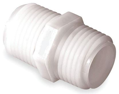 Picture of A&M Industries TN5088 Nylon Close Nipple MPT x MPT - 1/2 in. x 1/2 in.
