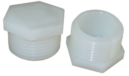 Picture of A&M Industries TP4006 Hex Pipe MPT Nylon Hex Plug - 3/8 in.